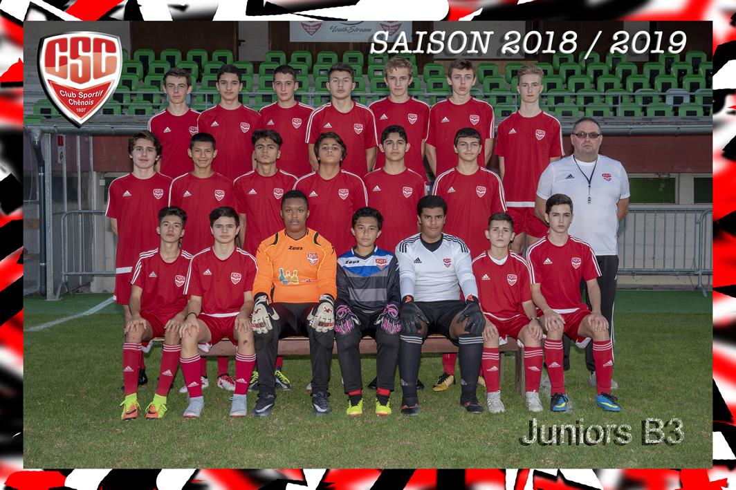 Juniors B3 - Club Sportif Chênois
